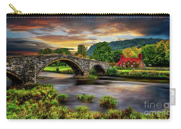 Llanrwst Bridge And Ivy Cottage Carry-all Pouch