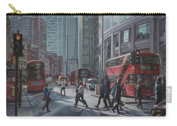Carry-all Pouch featuring the painting London Bishopsgate by Martin Davey