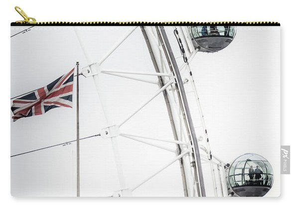 London Eye And Union Jack Carry-all Pouch