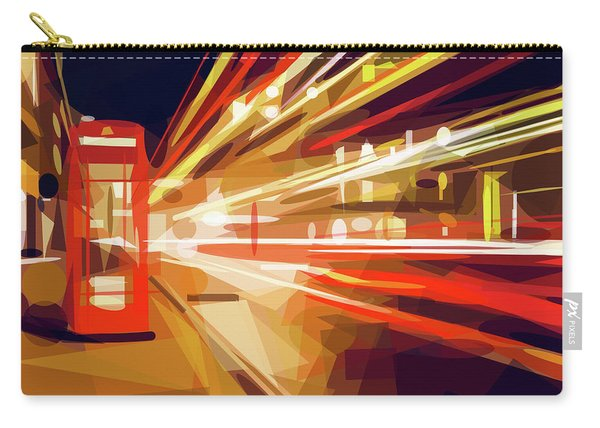 Carry-all Pouch featuring the digital art London Phone Box by ISAW Company