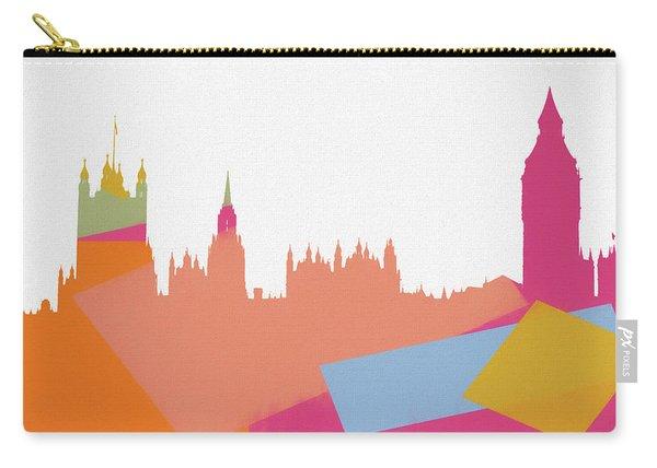 London Pop Art Skyline Carry-all Pouch