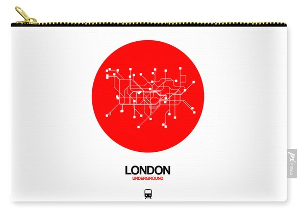 London Red Subway Map Carry-all Pouch