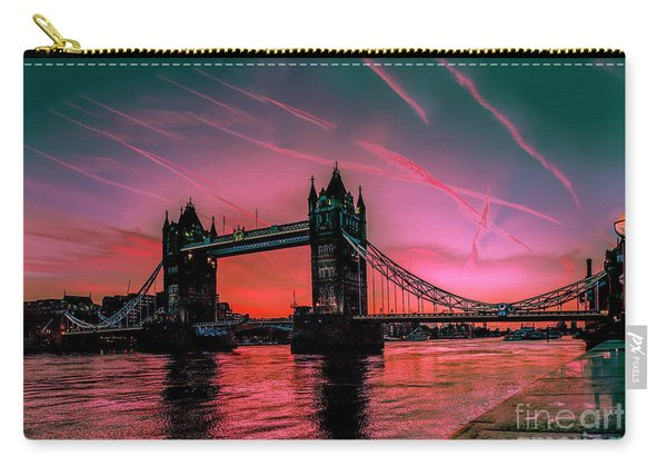 London Tower Bridge Sunrise Pano Carry-all Pouch