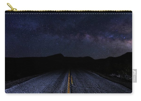 lonely Desert Road on a Starry Desert Night  Carry-all Pouch
