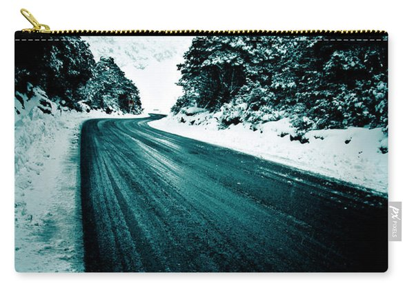 Lonely Road In The Countryside For A Car Trip And Disconnect From Stress Carry-all Pouch
