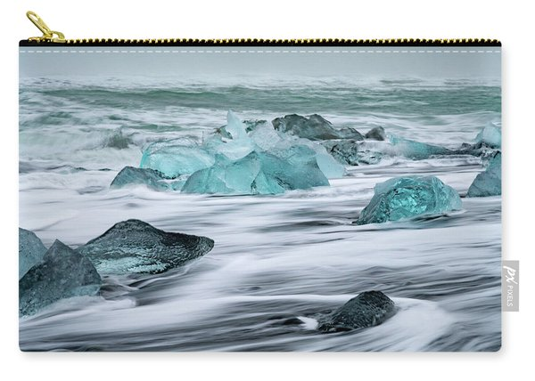 Long Exposure At The Jokulsarlon Ice Beach Carry-all Pouch