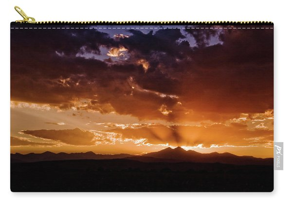 Longs Peak Sunset Carry-all Pouch