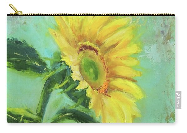 Loose Sunflower Carry-all Pouch