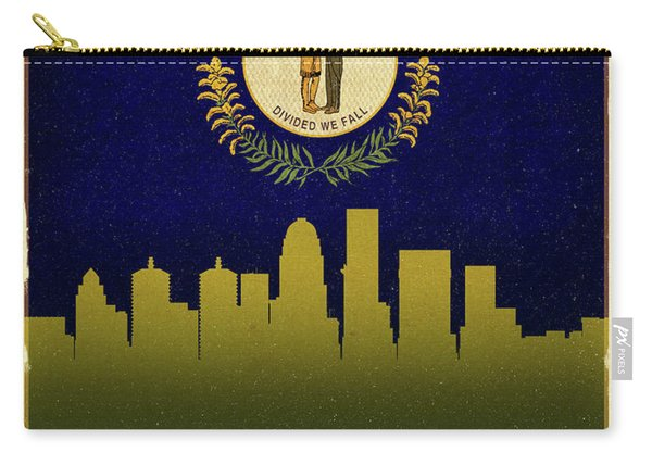 Louisville City Skyline State Flag Of Kentucky Carry-all Pouch