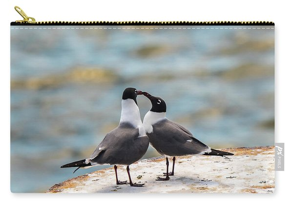 Carry-all Pouch featuring the photograph Love Birds by Dheeraj Mutha