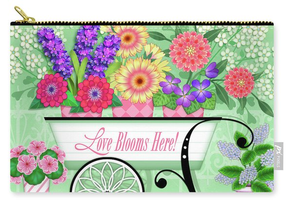 Love Blooms Here Carry-all Pouch