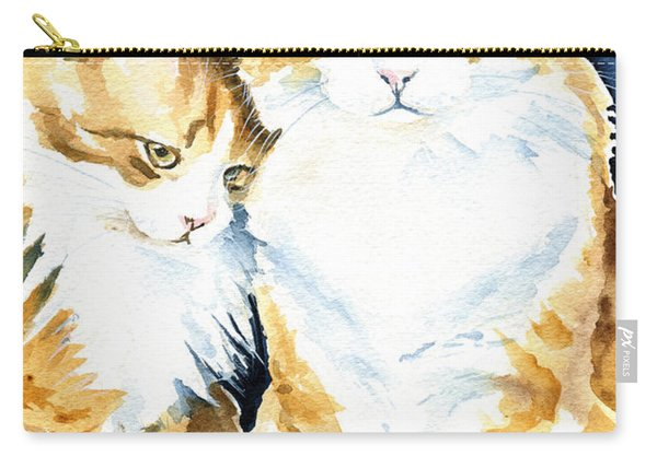 Love Me Meow Cat Painting Carry-all Pouch