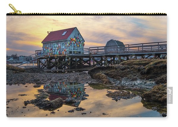 Carry-all Pouch featuring the photograph Low Tide Reflections, Badgers Island.  by Jeff Sinon