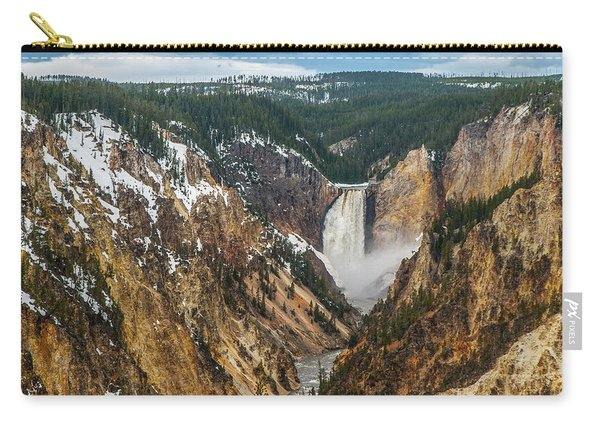 Lower Yellowstone Falls - Horizontal Carry-all Pouch