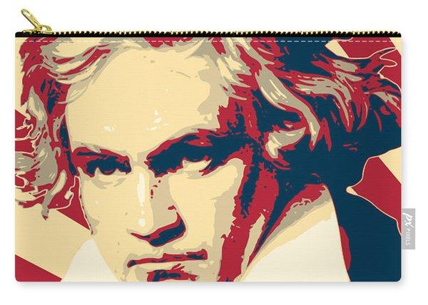 Ludwig Van Beethoven Retro Propaganda Carry-all Pouch