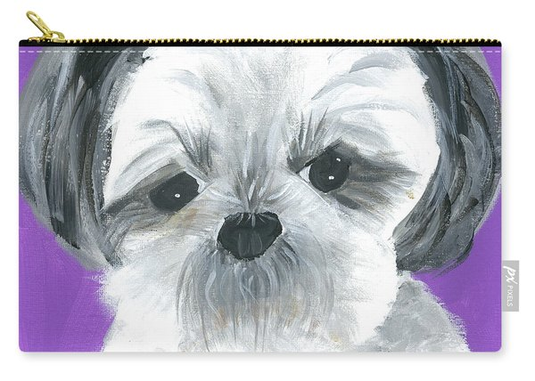 Carry-all Pouch featuring the painting Lulu by Suzy Mandel-Canter
