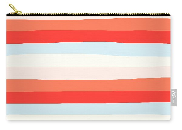 lumpy or bumpy lines abstract and colorful - QAB268 Carry-all Pouch