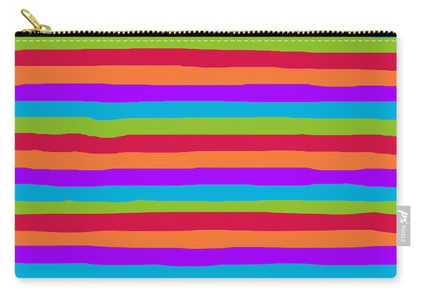 lumpy or bumpy lines abstract and summer colorful - QAB273 Carry-all Pouch