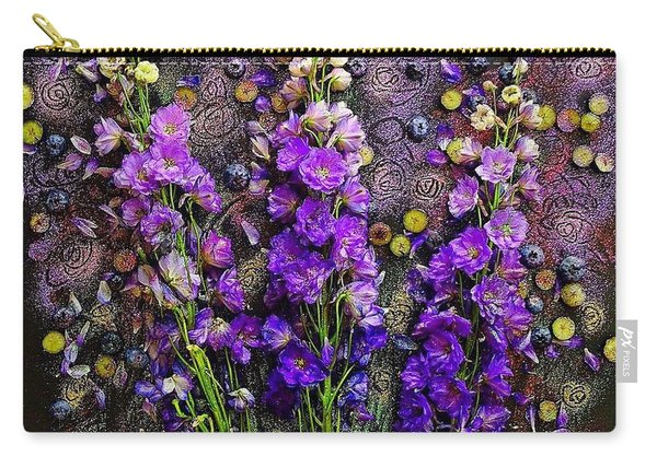 Lupine And Blueberries  Carry-all Pouch