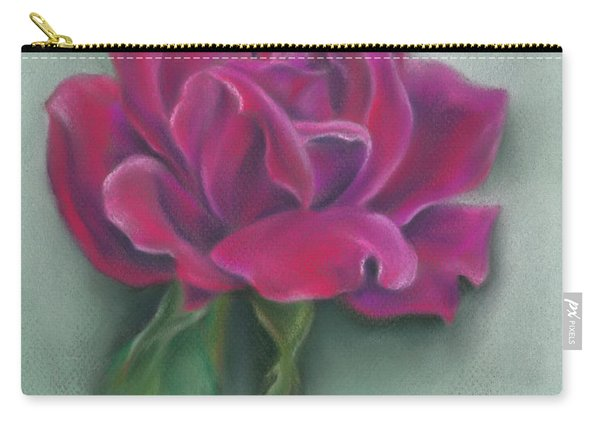 Lush Red Rose Carry-all Pouch