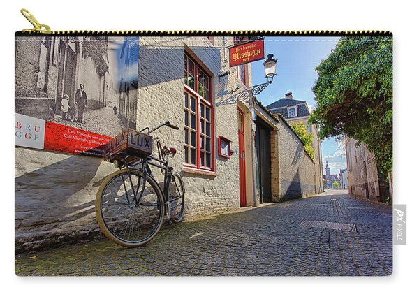 Lux Cobblestone Road Brugge Belgium Carry-all Pouch