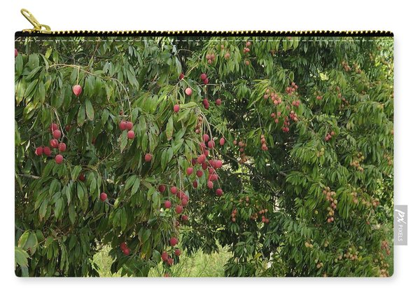 Lychee Tree With Fruit Carry-all Pouch