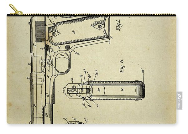 M1911 Browning Pistol Patent Carry-all Pouch