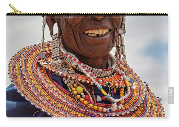 Maasai Woman In Tanzania Carry-all Pouch