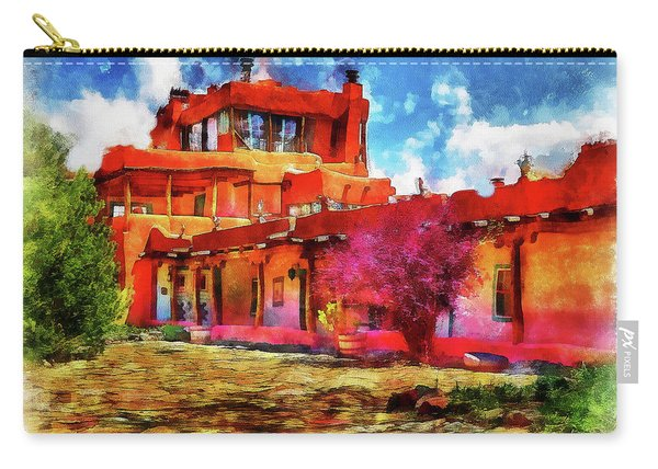 Mabel's Courtyard In Aquarelle Carry-all Pouch