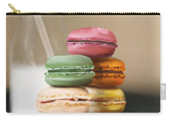 Carry-all Pouch featuring the pastel Macaroons  by Fe Jones