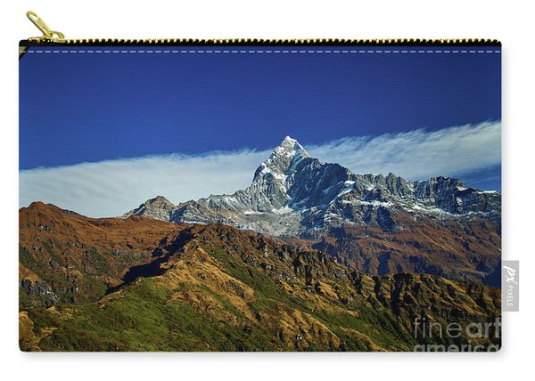 Machapuchare Mountain Fishtail In Himalayas Range Nepal Carry-all Pouch