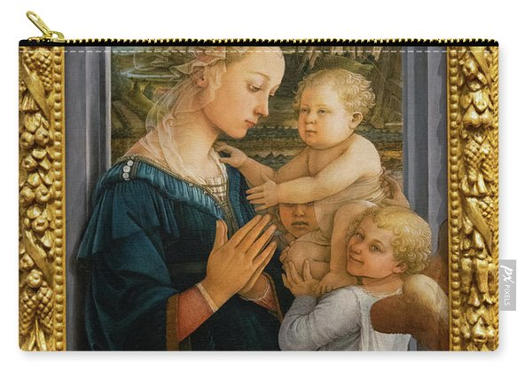 Madonna And Child Lippi The Uffizi Gallery Florence Italy Carry-all Pouch