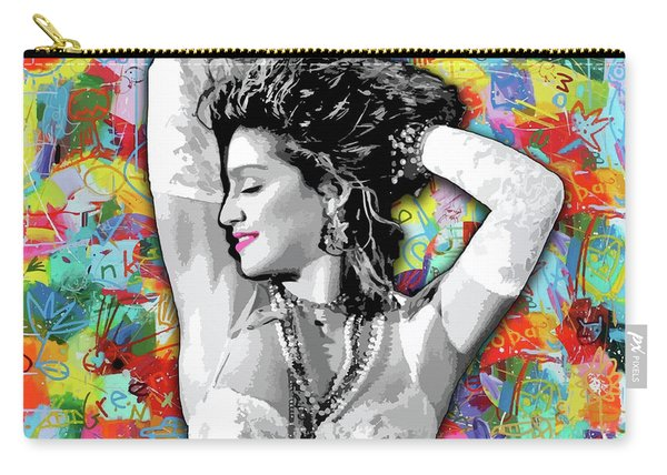 Carry-all Pouch featuring the painting Madonna Boy Toy by Carla B