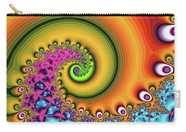 Carry-all Pouch featuring the digital art Magic Hook Orange Art by Don Northup