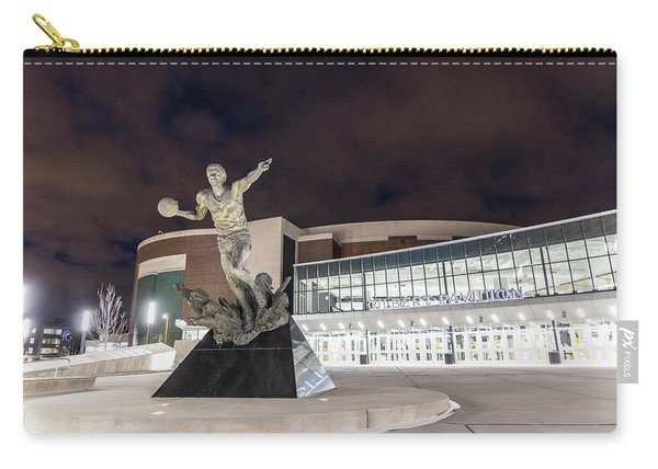 Magic Johnson Statue At Michigan State University  Carry-all Pouch
