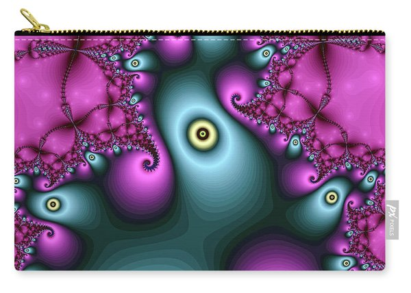 Carry-all Pouch featuring the digital art Magical Abstract Pink Art Print by Don Northup