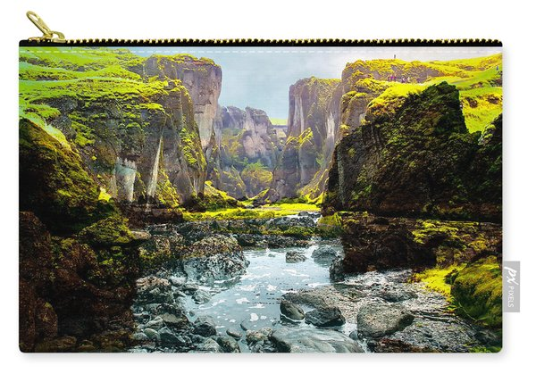 Magnificent Rural Canyons Montage Carry-all Pouch