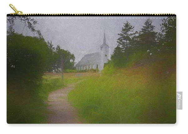 Carry-all Pouch featuring the photograph Maine Island Chapel by Tom Singleton