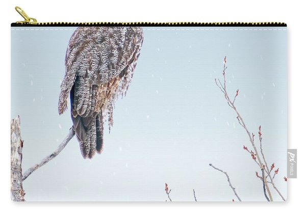 Majestic Great Gray Owl Carry-all Pouch