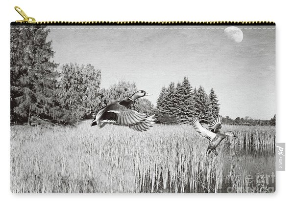 Majestic Mallards Bw Carry-all Pouch