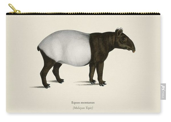 Malayan Tapir  Equus Montanus  Illustrated By Charles Dessalines D' Orbigny  1806-1876  2 Carry-all Pouch