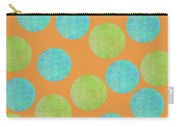 Malaysian Batik Polka Dot Print Carry-all Pouch