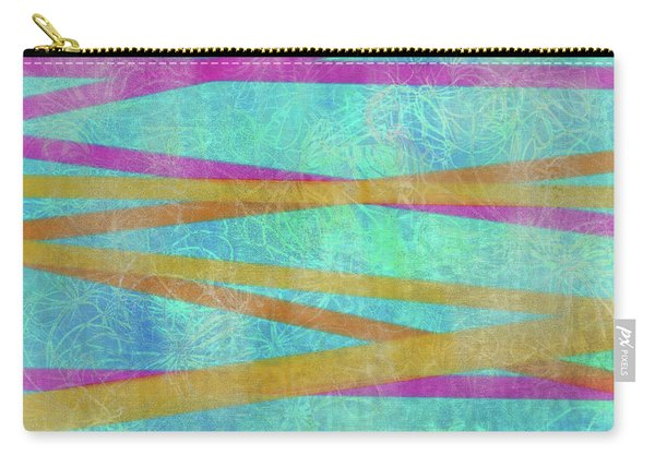 Malaysian Tropical Batik Strip Print Carry-all Pouch