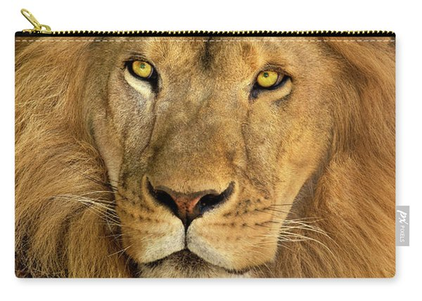 Male African Lion Portrait Wildlife Rescue Carry-all Pouch