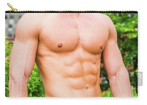 Male Torso 3 Carry-all Pouch