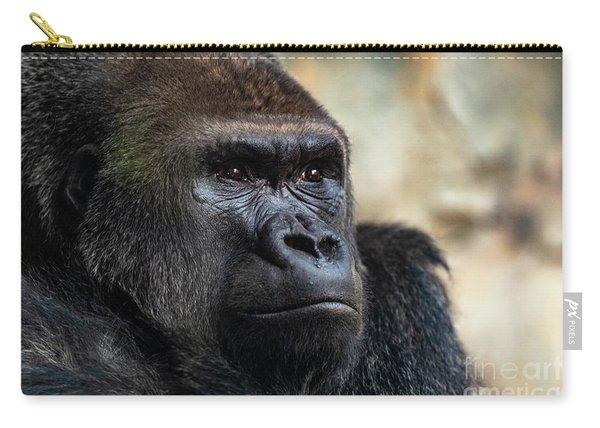 Male Western Gorilla Looking Around, Gorilla Gorilla Gorilla Carry-all Pouch