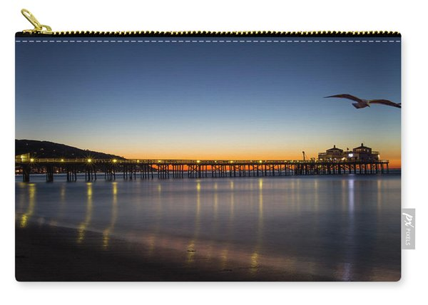 Malibu Pier At Sunrise Carry-all Pouch