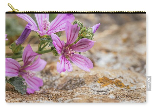 Malva Sylvestris - Spontaneous Flower Of The Tuscan Mountains Carry-all Pouch