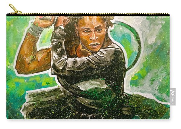 Carry-all Pouch featuring the painting Mama Said Knock You Out by Joel Tesch