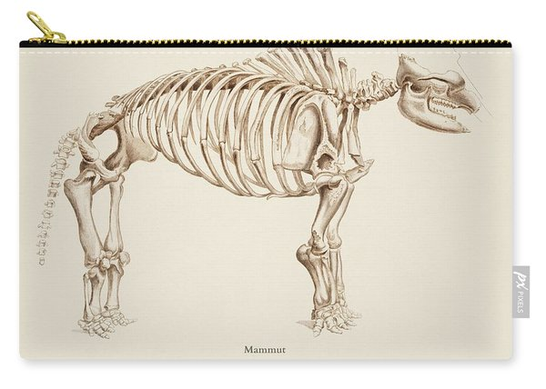 Mamoth  Mammut  Illustrated By Charles Dessalines D' Orbigny  1806-1876  Carry-all Pouch